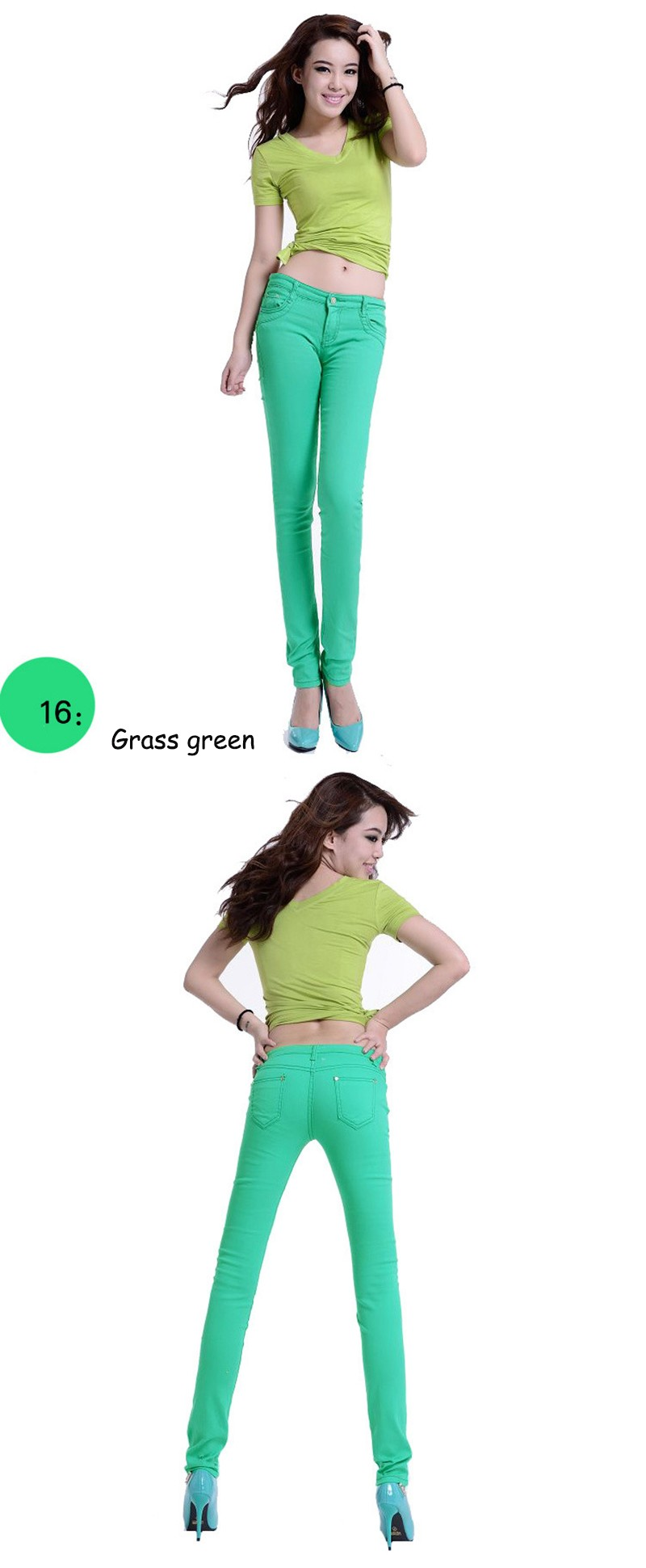 2016 Women Sexy Pencil Pants Spring Candy Color Casual Pants Skinny Pants Cotton Summer Trousers Hot Sale