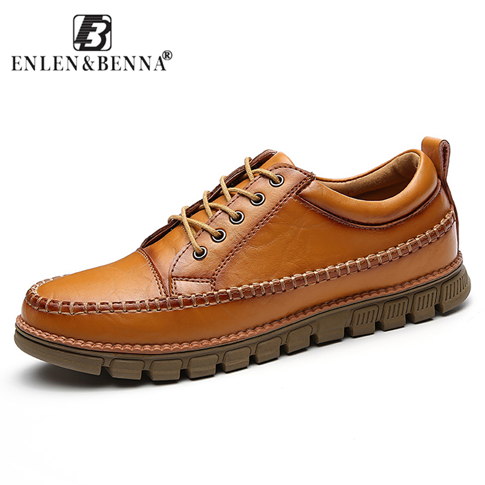 Men's Casual lace-up Autumn Winter Shoes High-Quality Hot Sale Vintage Genuine Leather fashion flat shoes Zapatos Sapato hot sale genuine leather shoes women soft comfortable lace up zapatos mujer high quality fashion oxfords pigskin women s shoes