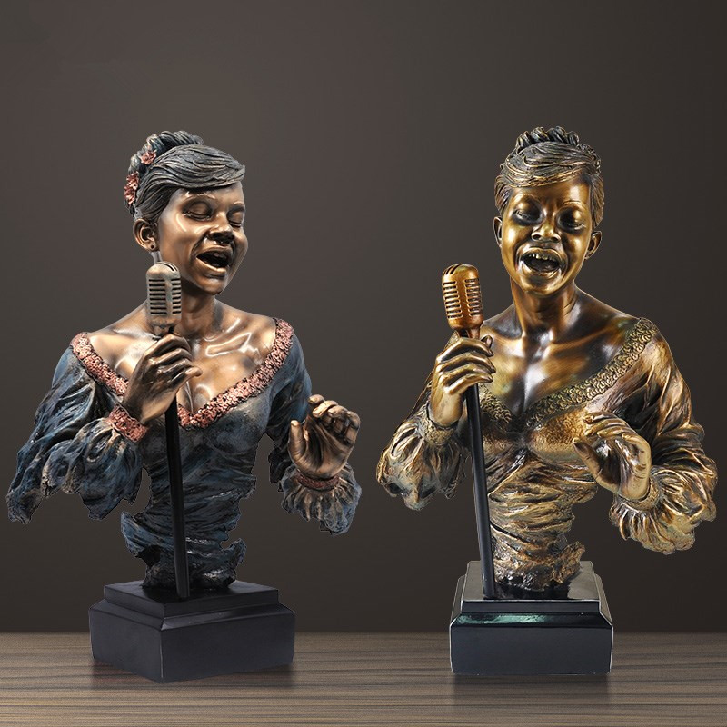 55cm Creative Art Lead Vocal Music Band Bust Statue Abstract Figure Musician Figurine Resin Art&Craft Home Decoration R144355cm Creative Art Lead Vocal Music Band Bust Statue Abstract Figure Musician Figurine Resin Art&Craft Home Decoration R1443