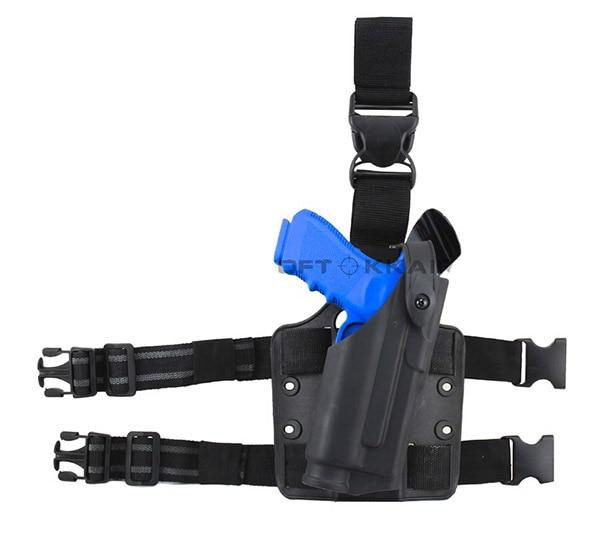 Safariland Tactical Dropleg funda para Glock 17 Caza de Airsoft con la linterna bd2289 Fuentes Del Partido Envío gratis