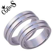 CGCMNS 6mm Stainless Steel Ring Geometrical Shape Simple Rings Men  Women Party Jewelry Silver Color
