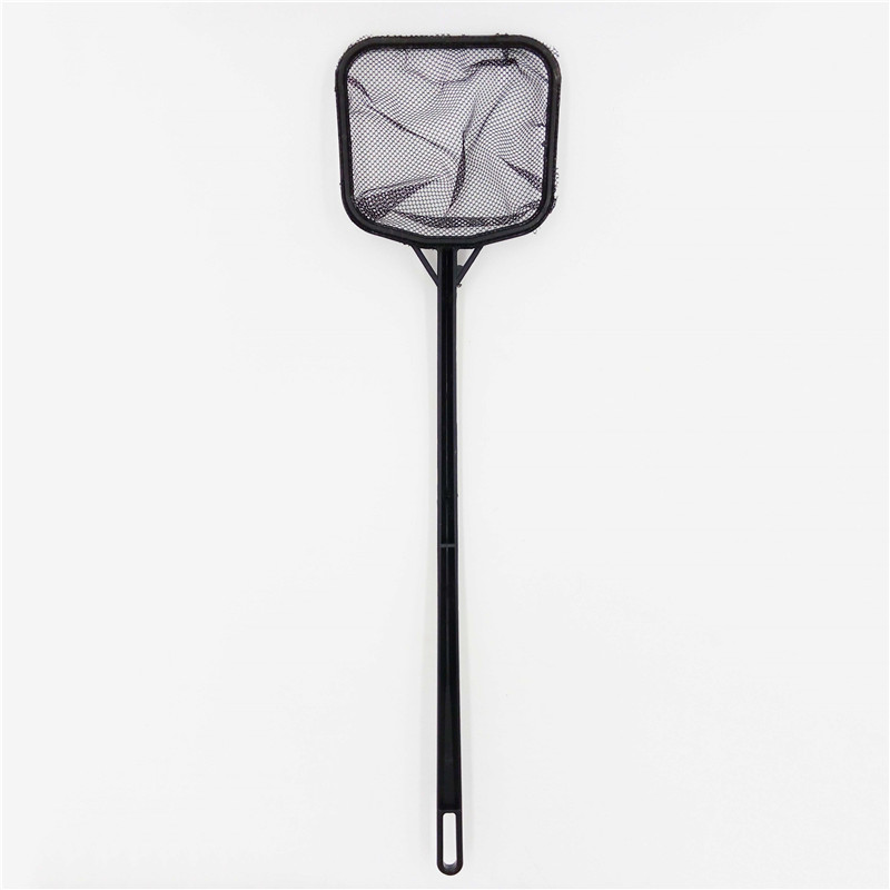 35cmx9cm Portable Long Handle Square Aquarium Fish Tank Fishing Net Landing Net For Fish Small Size 1pcs