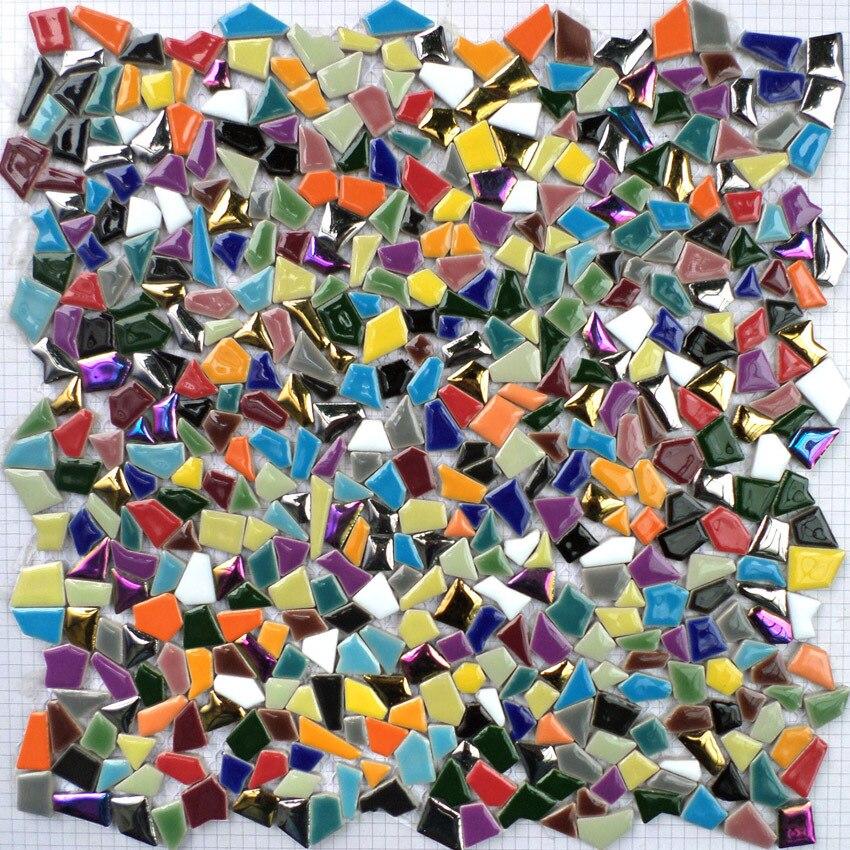 Arco iris colorido mosaico de ceramc de forma irregular de siete - Decoración del hogar - foto 3