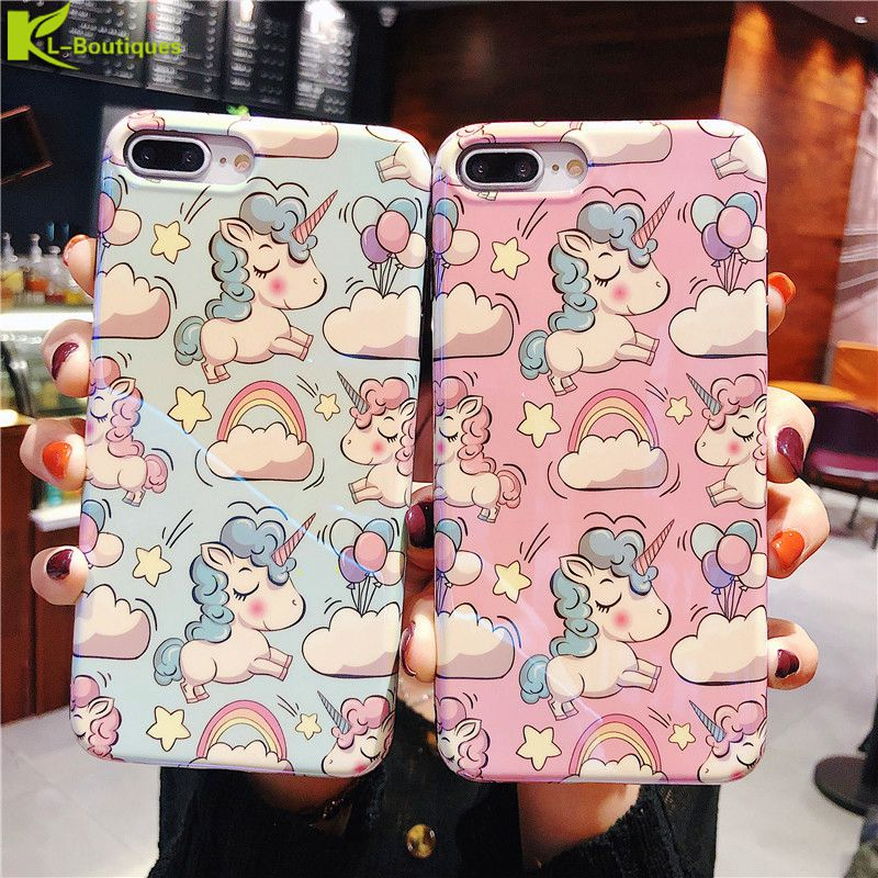 for iPhone XS Max Case on for iPhone XS X XS Max XR 6S 7 8 Plus Cover Cartoon Unicorn Soft TPU Silicone Phone Cases Etui Coque image
