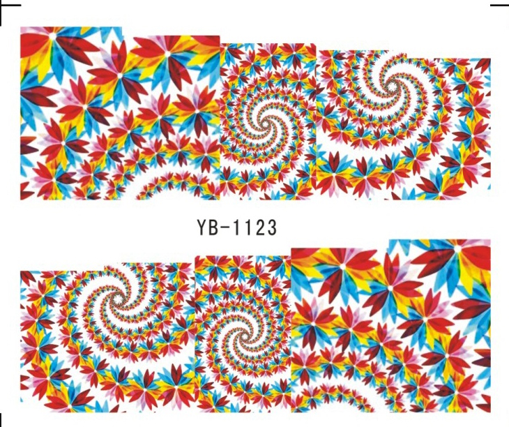 Nail Sticker Water Transfers Stickers Nail Decals FLOWER WATER LILY CLUBS CAMELLIA EVERFLOWERING ROSE YB1123-1128 миска lily flower g2286 h4266