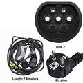 Mennekes type 2 EVSE ev plug mode 2 зарядное устройство для электромобиля 20A type Schuko 7,6 M кабель для электромобиля домашняя Быстрая зарядка