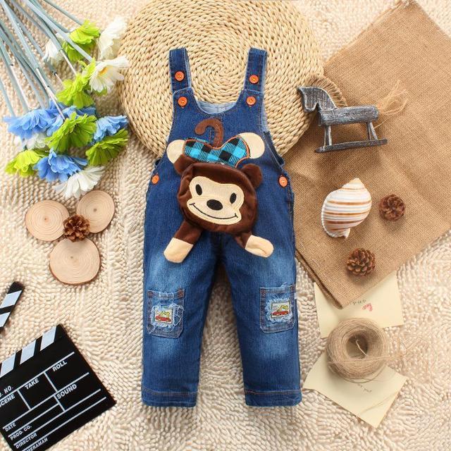 [Bosudhsou] Kids Overalls Jeans Baby Rompers Newborn Denim Jumpsuits Toddler/infant Children Clothing Boys Girls Bib Pants 01