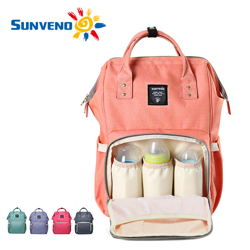 sunveno fashion mummy maternity nappy bag brand large capacity baby bag travel backpack desinger. Black Bedroom Furniture Sets. Home Design Ideas