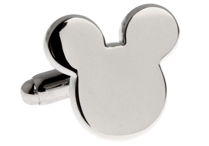 Ücretsiz Kargo Yenilik Mickey Tasarım Kol Düğmeleri Bakır - Kostüm mücevherat - Fotoğraf 3