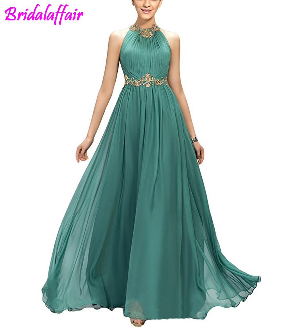 Women's A-Line Beading Pleats   Prom     Dresses     Prom   Long Elegant   Dresses   vestido de formatura longo vestidos de gala Gown Long   Dress