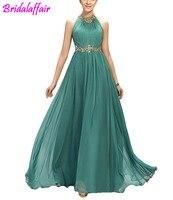 Women's A Line Beading Pleats Prom Dresses Prom Long Elegant Dresses vestido de formatura longo vestidos de gala Gown Long Dress