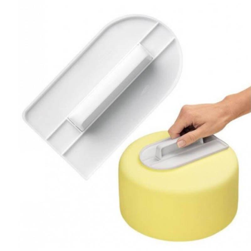 Nuevo plástico de la torta Smooth herramienta de cocina para hornear cocina enra