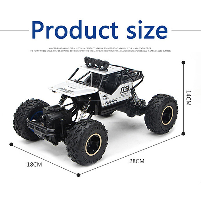 1/16 4WD RC Car Updated Version 2.4G Radio Control RC Cars Toys Bigfoot Car Model Vehicle Toys For Children Gift Dropshipping 4