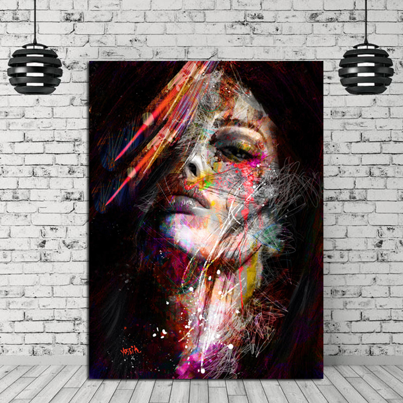 Modern Art Poster Woman Face Painting Wall Poster Fashion ...