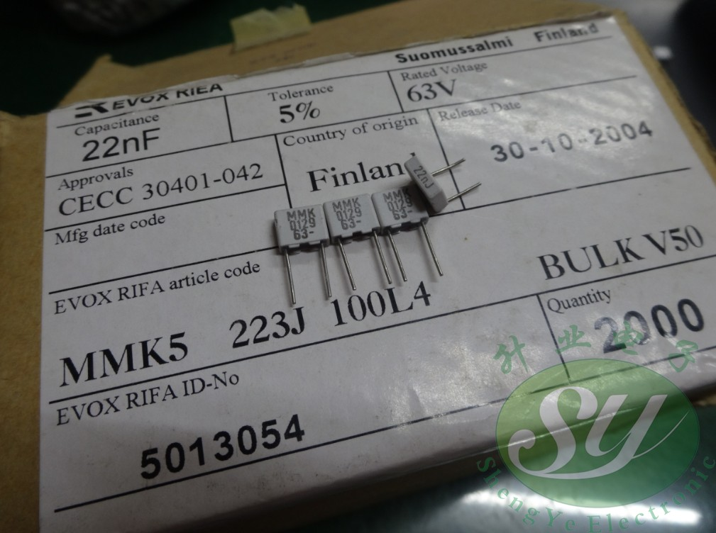 2018 Hot Sale 30PCS/50pcs EVOX MMK5 0.022uf/63v 22nf 223 New Film Capacitor 5MM Audio Capacitor Free Shipping