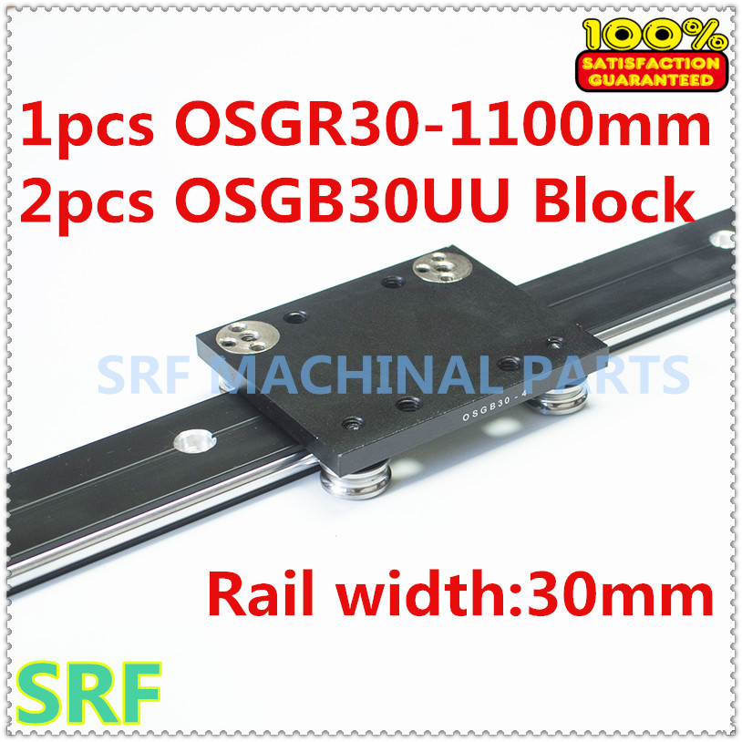 30mm width Aluminum roller linear guide rail external dual axis linear guide 1pcs OSGR30 L=1100mm+2pcs OSGB30UU block 30mm width aluminum roller linear guide rail external dual axis linear guide 1pcs osgr30 l 700mm 2pcs osgb30uu block