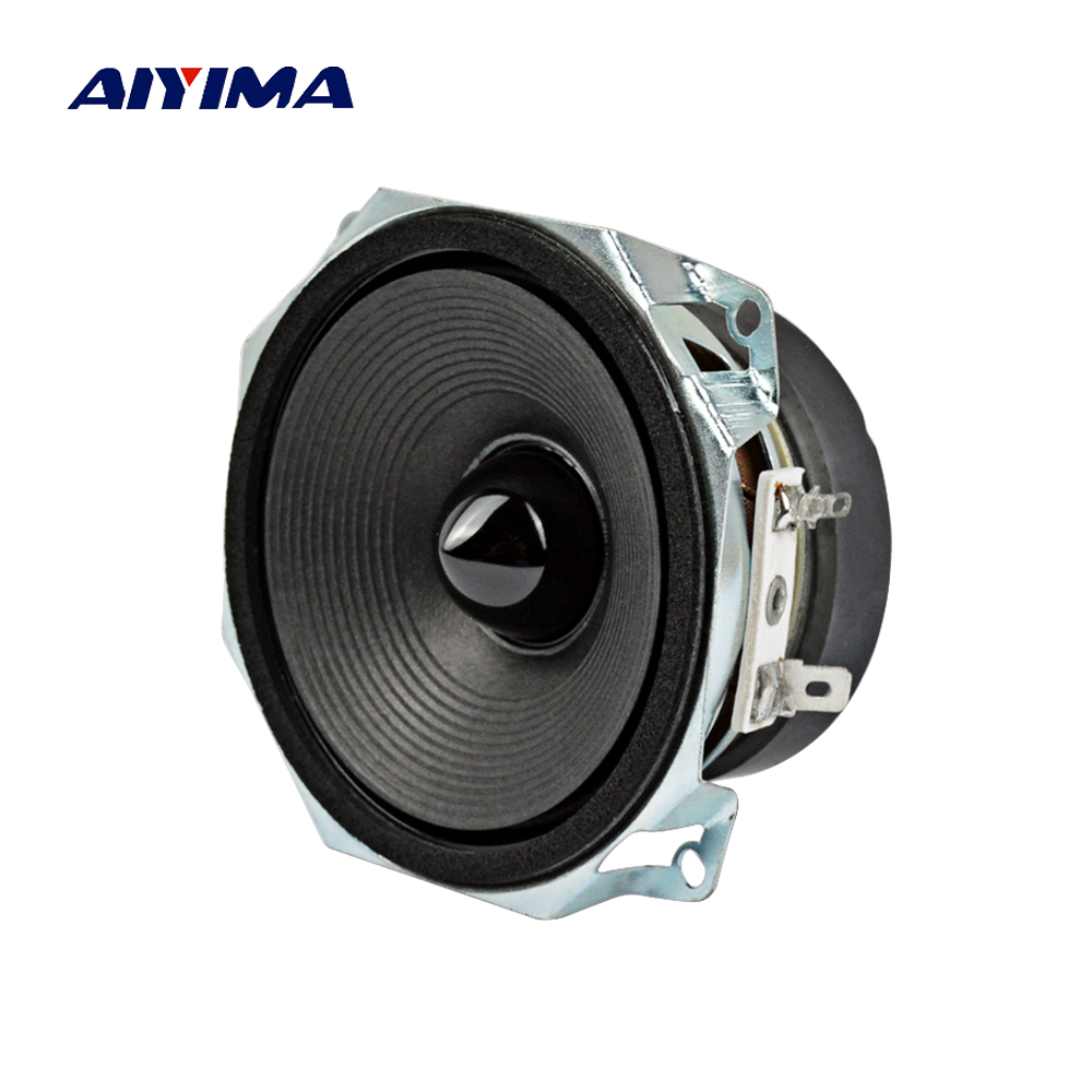 Aiyima 1PC 3Inch Full Range Speakers Loudspeaker 8Ohm 30W Subwoofer Audio Speaker Unit DIY ghxamp 6 5 inch full range speaker coaxial horn car speaker unit 8ohm 30w neodymium car audio loudspeaker 2pcs
