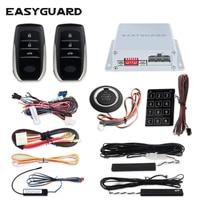 EASYGUARD PKE car alarm system push start system remote engine start stop auto passive keyless entry kit touch password keypad