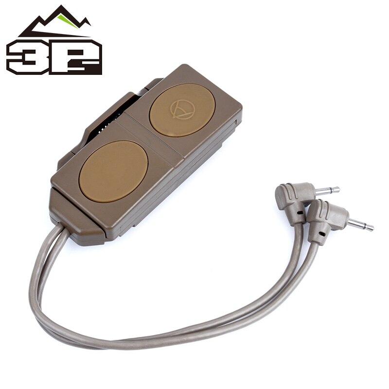 Tactique double télécommande interrupteur pression pour PEQ 16A et M3X lampe de poche Airsoft arme lumière accessoires WEX177