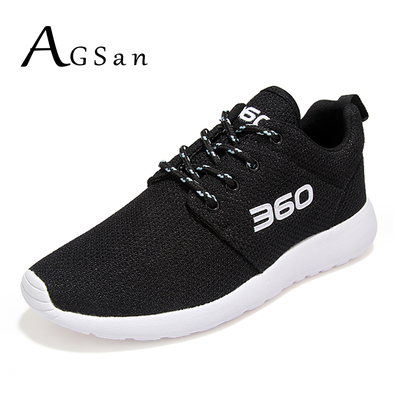 AGSan mesh breathable men casual shoes big size 45 46 unisex trainers 2017 red black grey