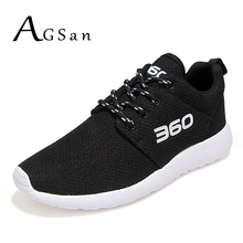 AGSan mesh breathable men casual shoes big size 45 46 unisex trainers 2017 red black grey footwear lightweight shoes