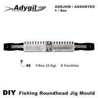 Adygil DIY Angeln Roundhead Jig Mould ADRJHM/VERSCHIEDENE COMBO 1/8 unze (3 5g) 8 Hohlräume