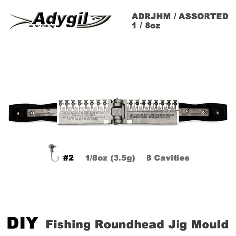 roundhead adygil diy pesca jig molde adrjhm assorted combo 1 8 oz 3 5g 8