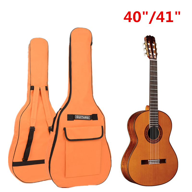 цены 40 /41 Inch Guitar Bag Oxford Fabric Acoustic Guitar Gig Bag Soft Case Double Shoulder Straps Padded Guitar Waterproof Backpack