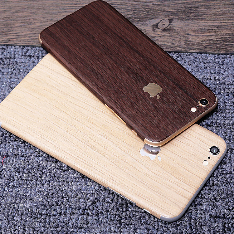 brand new 887bf 01fa4 US $2.99 |Luxury Wood Grain Full Body Cover Skin Sticker Protection Case  For iPhone 4 4s/ 5c/ 5 5s 6 6Plus 6s 6s Plus Decal Back Film on ...