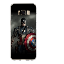 For Samsung Galaxy S8 S9 Plus S6 S7 Edge Note 8 Luxury Marvel Avengers Heroes Cover Case Silicone Fundas Coque Capinha Etui