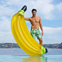 Giant Banana Pool Float 180cm Inflatable Mattress Pontoon Bed Swimming Party Fun Toy Para Adult Marine Water Accessory Holiday
