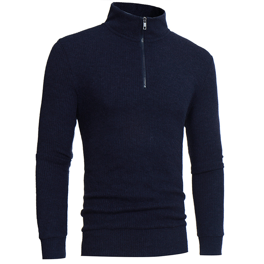 High Quality New Fashion Men's Autumn Winter Turtleneck Long Sleeve Pullover Sweater Shirt Blouse Tops Drop Shipping