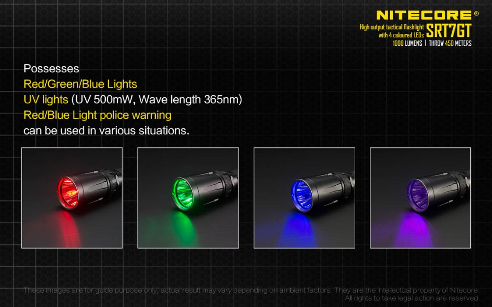 Image 5 - NITECORE SRT7GT 1000 Lumens CREE XP L HI V3 four colors UV LED Flashlight Smart Selector Ring Waterproof Search Hiking Fishing-in Portable Lighting Accessories from Lights & Lighting