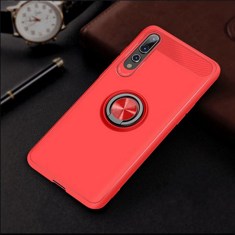 Image 5 - Carbon Fiber Magnet Case For Huawei p20 lite p20 pro Case Soft Silicon Metal Ring Cover For Huawei honor 10 p20lite p20pro Cases-in Fitted Cases from Cellphones & Telecommunications