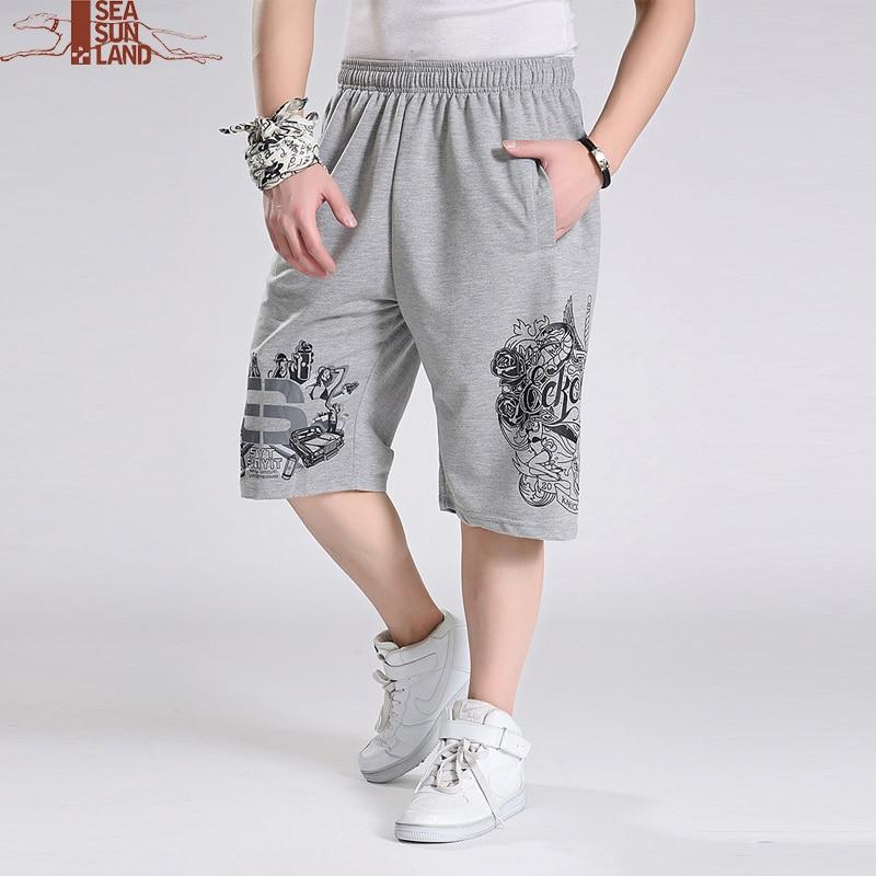 SeaSunLand hombres pantalones cortos sueltos hip hop verano 6XL más tamaño  ocasional masculina ropa basculador ejercicio shorts hombres bermudas  masculina ... 893506f2dc3