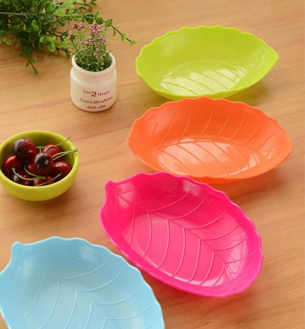 candy colored fruit dish leaves tableware Dishes \u0026 Plates Plastic fruit plate candy dish 19x14x3. & candy colored fruit dish leaves tableware Dishes \u0026 Plates Plastic ...