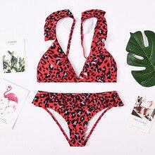 Wasteheart Summer Red Sexy Bikini Sets Straps Women Swimsuit Beach Style Swimwear Low Waist Bathing Suit Female Holiday