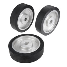 DRELD 200*50mm Solid Rubber Contact Wheel For Belt Grinder Sander Polishing Sanding Chamfering Grinding Abrasive