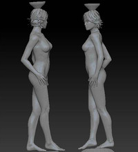 3D stl carved figure sculpture 3d model for cnc machine in STL file format Nude women 3(China)