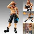 """Frete grátis 7 """" Anime One Piece Portgas D Ace punhos de fogo Ace móvel caixa 18 cm PVC Action Figure coleção modelo de brinquedo de presente"""