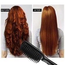 Расческа-выпрямитель для волос О 'Белла, 100-240 В, 45 секунд, быстрый нагрев, 28 мм, длинная и высокая плотность, расческа, зубы, анион, расческа-выпрямитель для волос