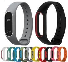 2017 Replace Strap for Xiaomi Mi Band 2 MiBand 2 Silicone Wristbands Colorful Double Color Smart Bracelet for Xiomi Mi Band 2