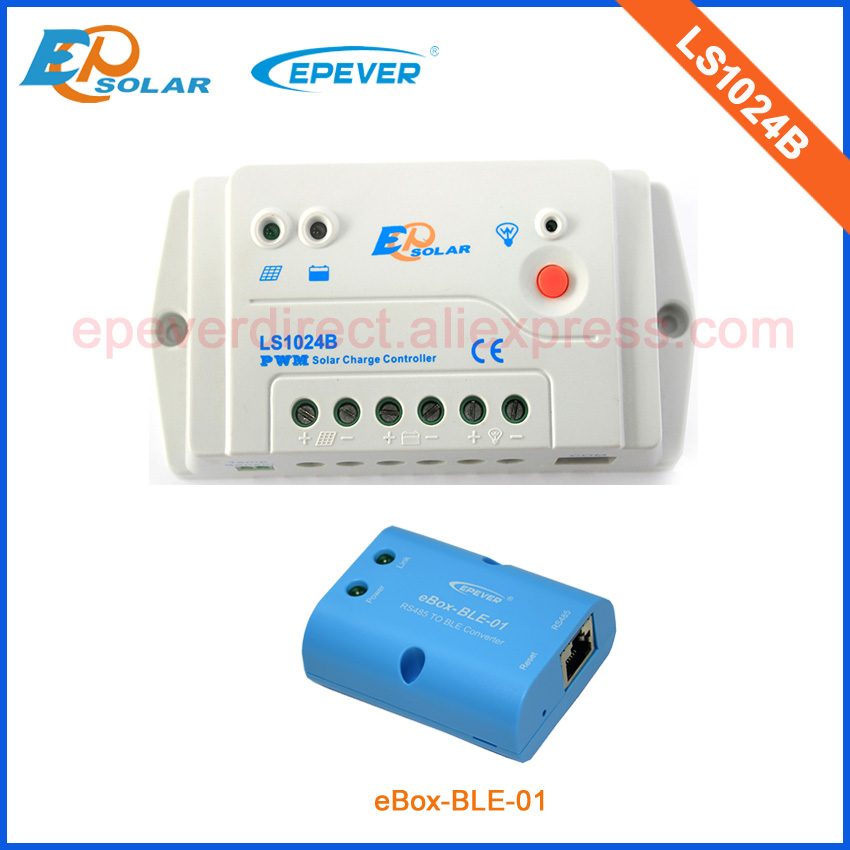 10A PWM solar system charging regulator LS1024B with bluetooth function connect mobile phone APP 12v 24v auto work home use 20a solar power bank charging controller tracer2215bn temperature sensor and bluetooth function 20amp 12v 24v auto work
