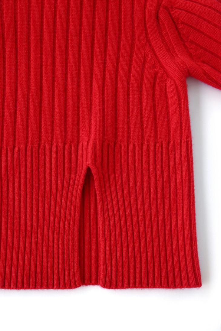 Guesod Pull Nouvelle Femme Taille Femmes Chandails Blue Fente Navy Plus 2017 cou La 100 Cachemire Épais rouge Automne Hiver En De D'o Lâche Arrivée rOrYqP