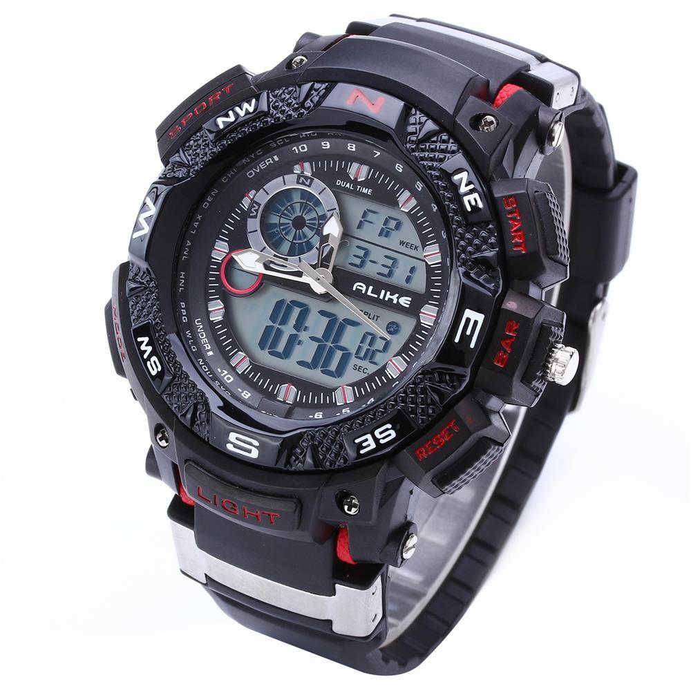 Prix pour G Style Choc ALIKE Étanche Sports de Plein Air Montres Hommes Quartz Montre Horloge Numérique Militaire LED Montre-Bracelet Relogio Masculino