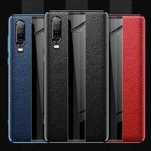 Image 2 - Para Huawei P30 Pro Caso De Couro Vpower Luxo Anti batida Couro Genuíno Telefone Chapeamento de Volta Caso Para Huawei P30 /P30 Capas Pro