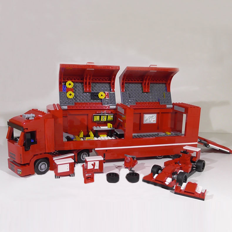 WAZ Compatible Legoe Technic Series 75913 Lepin 21010 914pcs Super Racing Car Red Truck building blocks bricks toys for children lele technic city series 2 in 1 mining truck car building blocks bricks model kids toys marvel compatible legoe