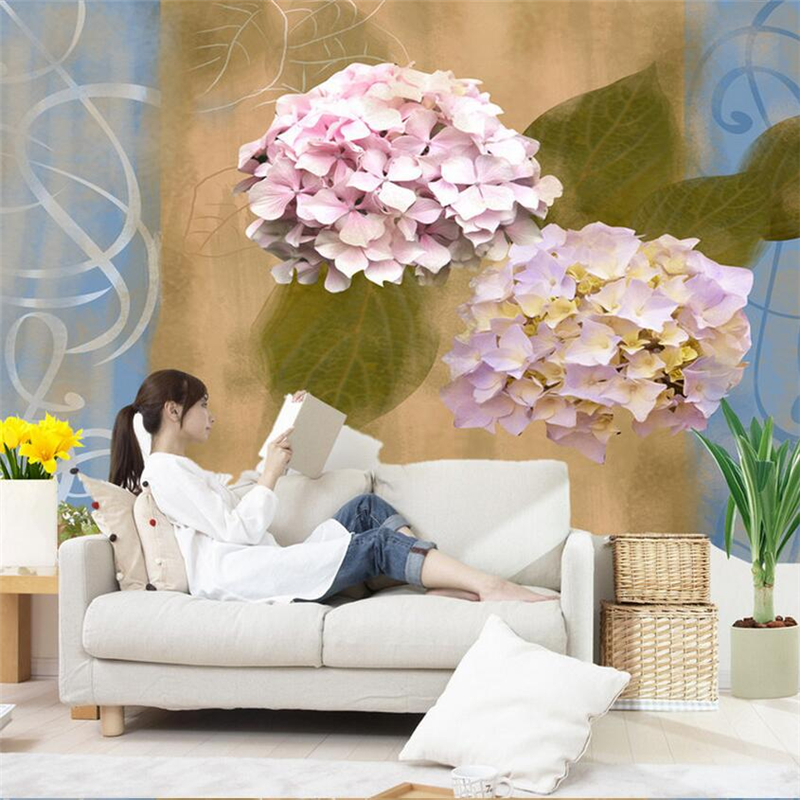 Custom 3D Flower Wall Murals Hydrangea Embossed Wall Paper Friendly Embossed TV Background Living Room Kitchen Bedroom Study the custom 3d murals the new york times center building street black and white living room sofa tv wall bedroom wall paper
