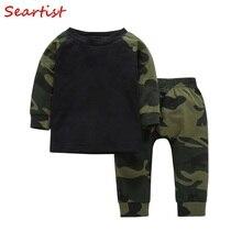 Sertista bebé niños de camuflaje suéter Jogger conjunto de ropa de 2 piezas  sudadera + Pantalones de los niños de camuflaje conj. 634fac911154