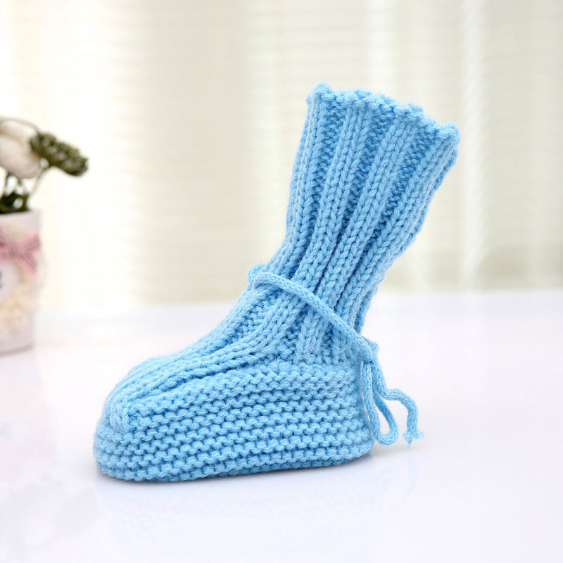274bc2e5b Kids Baby Boy Girls Warm Knit Crochet Socks Toddler Infant Wool Boots Crib  Shoes Autumn Winter-in Boots from Mother   Kids on Aliexpress.com